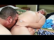 BBW Filmed by Husband Fucking Muscular Guy