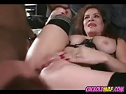 Cuckold MILF banged by black bulls while husband videotapes
