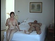 Swinger couples having fun at home