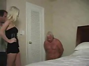 Cuckold instruction from horny blonde