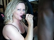 MILF sucks BBC for hubby