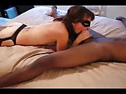 Blindfolded wife fucked rough by a hungry negro