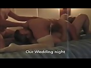 White Wife &amp_ TWO HUNG BLACKS - Hubby Quietly Tapes! Comment